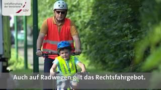 Video Film Kinder lernen Rad fahren: Grundregeln