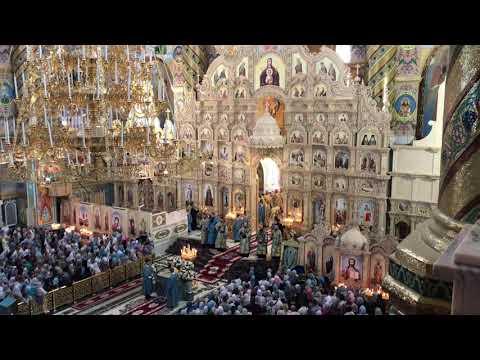 ПОЕТ ВЕСЬ ХРАМ!!! Верую Символ веры Свято-Успенская Почаевская Лавра