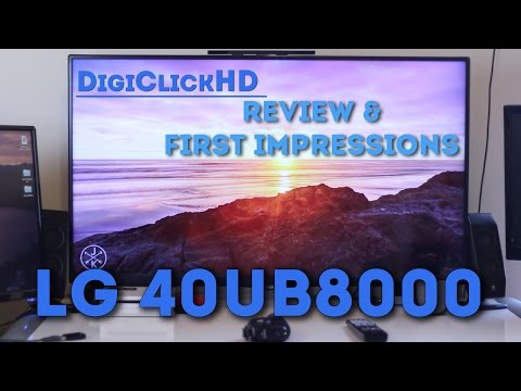 LG 40UB8000 4K TV Review & First Impressions