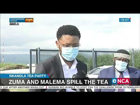 Nkandla Tea Party Zuma and Malema spill the tea