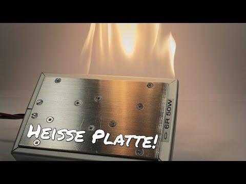 50W Widerstands-Heizplatte Bau & Test