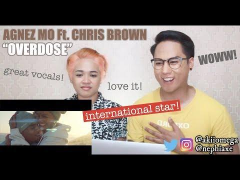 AGNEZ MO - Overdose ft.  Chris Brown (Official Music Video)   REACTION