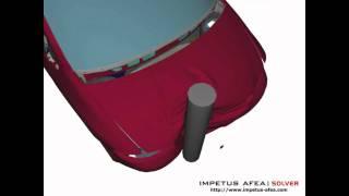 Finite element simulation of full scale car crash based 100% on solid elements