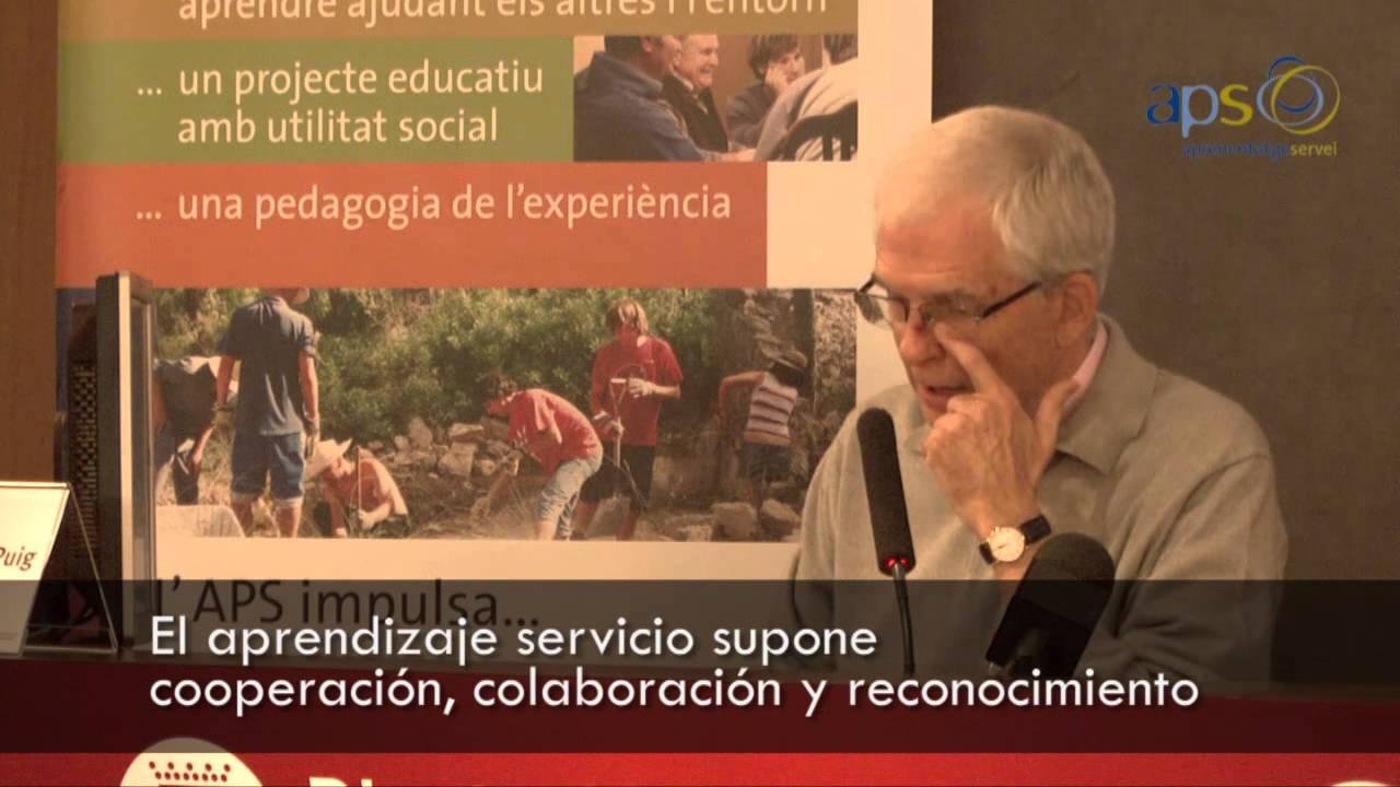 El aprendizaje servicio: bases pedagógicas e ideas clave