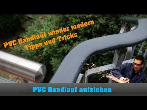 PVC Handlauf aufziehen - Dudelsack - Nachbearbeitung