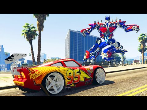 Grand Theft Auto V - Lightning Mcqueen Customization - GTA 5 Disney CARS MOD