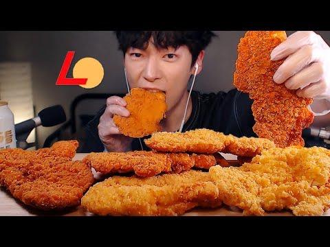 MUKBANG ASMR|얼굴만한 지파이와 캔맥주 먹방 (롯데리아) |고소한맛,매운맛 대왕 치킨텐더 EATING SOUNDS[SIO ASMR 시오]