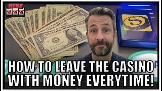 This is the LEGIT WAY to always leave the Casino with MONEY! Never go home broke again!