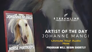 """Johanne Mangi """"The Fine Art Of Painting Horse Portraits **FREE LESSON VIEWING**"""