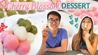 EASY JAPANESE DESSERT (Hanami Dango)   Sweet Chewy Rice Balls   ASIAN DESSERT Series (Part 3)
