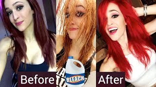 DYING MY HAIR BRIGHT RED!!