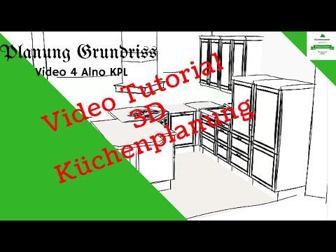 3D Küchenplaner alno kpl 2 video #Grundriss tutorial