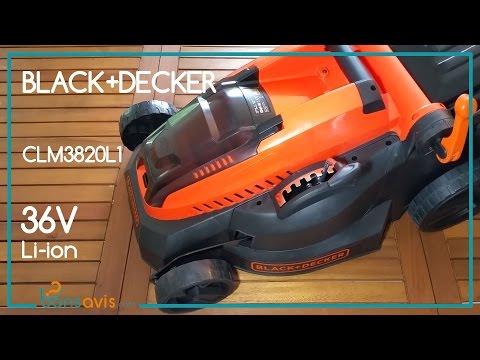 Black + Decker CLM3820L1 │ Tondeuse sans fil Li-ion 36V - 38 cm│ Cordless Lawnmower