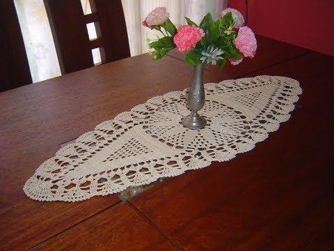 Norma flores como tejer carpeta ovalada o centro de mesa for Centro de mesa a crochet