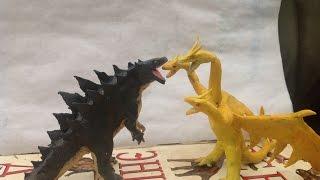 Godzilla vs King Ghidorah | Kaiju Claymation fight