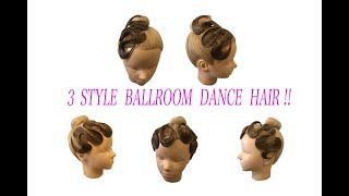 Quick & Easy !! Ballroom Dance Hair !! Hair Piece By K For Dancers.