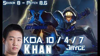 KZ Khan JAYCE vs GNAR Top - Patch 8.6 KR Ranked