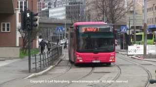 preview picture of video 'Oslo Buses around the Central Railway Station, Oslo, Norway'