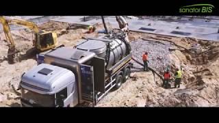 Sanator Bis - Koparka ssąca na budowie Metra