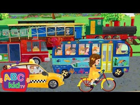 Wheels on the Bus and Vehicles | CoCoMelon Nursery Rhymes & Kids Songs