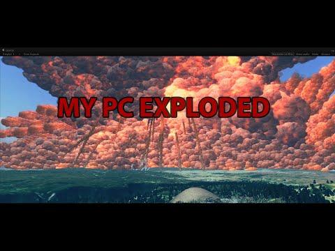 Yellowstone Supervolcano Eruption Simulation