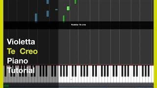 Violetta - Te CrEo - PiAnO TuToRiaL in Synthesia cover