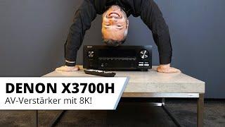 Denon AVC X3700 H - AV-Verstärker für Heimkino oder Wohnzimmer mit 8K!