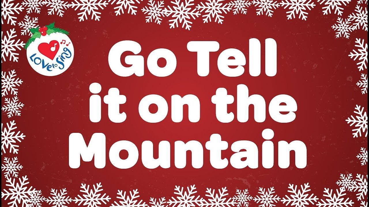 GO TELL IT ON THE MOUNTAIN LYRICS