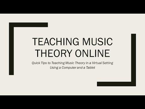 Teaching Music Theory Online