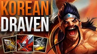 THIS CHALLENGER 82% WIN RATE DRAVEN IS INSANE | KOREAN CHALLENGER DRAVEN ADC GAMEPLAY | Patch 9.6 S9