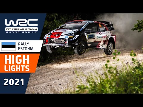 WRC 2021 第7戦ラリー・エストニア SS10-SS13のハイライト動画