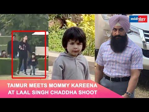 Taimur Ali Khan Visits Mom Kareena Kapoor Khan on the sets of Laal Singh Chaddha