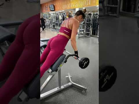 Barbell Hyperextensions