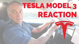 Prius Owner Drives Tesla Model 3 For The First Time