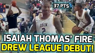 Isaiah Thomas Drops 37 POINTS For Baron Davis' BB4L Team In Drew League DEBUT! NBA Roster WORTHY!? 👀