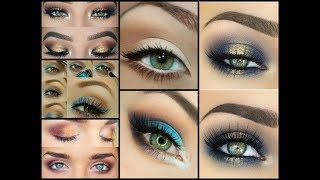 Makeup For Green Eyes Compilation - Makeup Trends And Tips