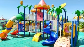 Outdoor Playground Fun for Children - Family Park with Slides, Disney Mickey Mouse