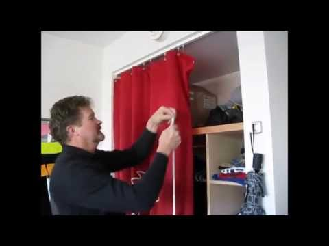 Closet Drape Installation Demo