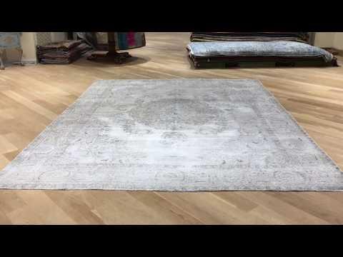 Handgefertigte echte Vintage Teppiche grau 19140