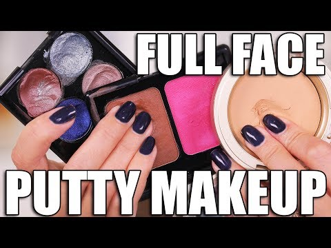 STRANGE MAKEUP!!! FULL FACE using PUTTY MAKEUP