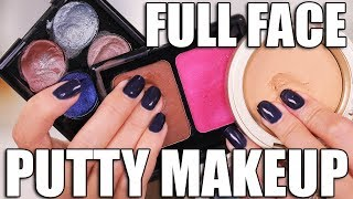 STRANGE MAKEUP!!! FULL FACE using PUTTY MAKEUP