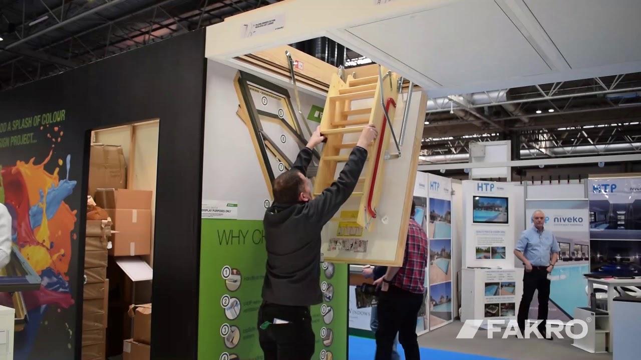 The Elegant Wooden Loft Ladder in Action
