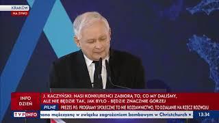 Kaczyński odleciał: Jeżeli opozycja odzyska władzę to demokracja w Polsce będzie niszczona.