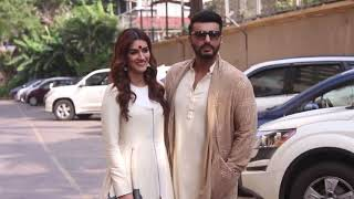 PANIPAT: ARJUN KAPOOR, KRITI SANON & ASHUTOSH GOWARIKER SPOTTED PROMOTING THEIR FILM AT JUHU
