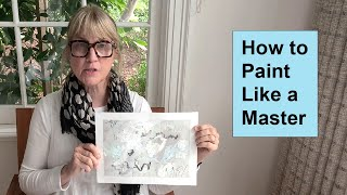 How To Paint Abstracts Like A Master, Learning From Cy Twombly / Art With Adele
