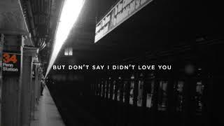 Josh Kerr I Didn't Love You