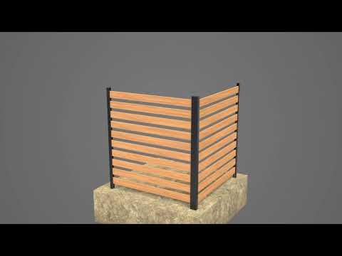 Charleston Wood Slat Screen Kit Assembly and Installation