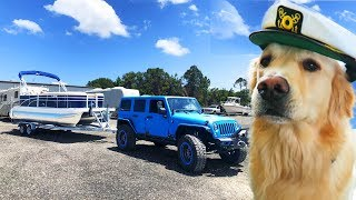 COOPER GETS A BOAT (Dog's First Boat Ride)