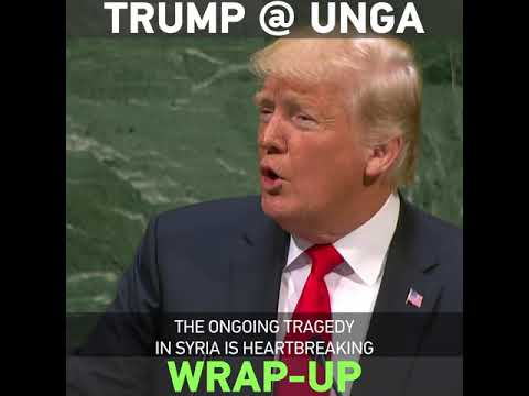 Wrap-up of Trump's speech at UNGA