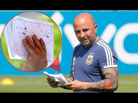 Sampaoli's notebook reveals Argentina's tactical work ahead of Nigeria